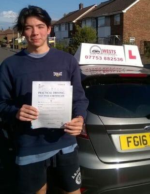 Jonathan Passed taking driving lessons Elm Park