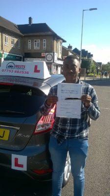 Josh passes taking manual driving lessons around Hornchurch